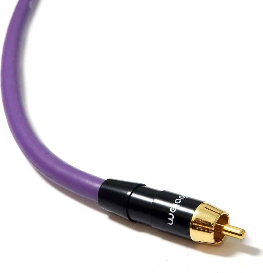 Kabel Melodika RCA (Cinch) - RCA (Cinch) 1m fioletowy 1