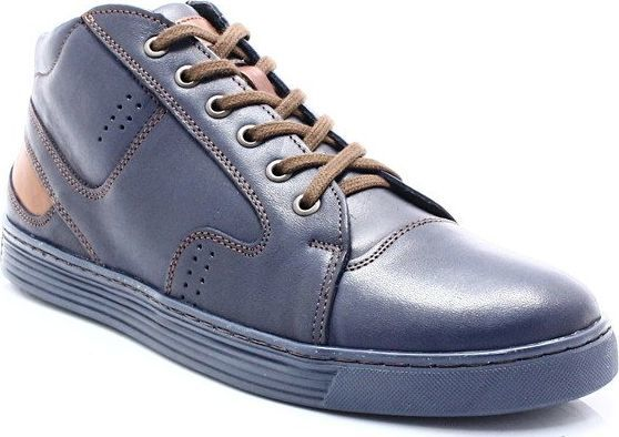 Kent KENT 303 GRANATOWE Zimowe buty męskie, skóra 44 ID produktu: 6102931
