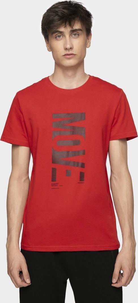 4f Koszulka męska H4Z19 TSM072 czerwona r. XL ID produktu: 6103201