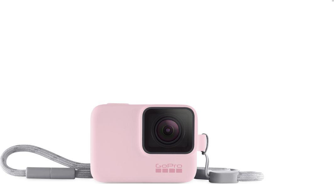 GoPro Etui Sleeve & Lanyard różowe Hero 5/6/7 1