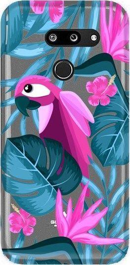 CaseGadget Nakładka do LG G8 Thinq papuga i kwiaty 1
