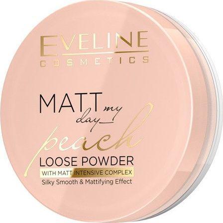 Eveline Matt My Day Puder sypki wygładzająco - matujący Peach 6g 1