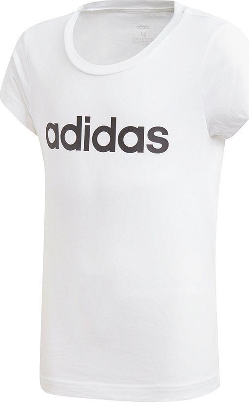 Adidas Koszulka dziewczęca Yg E Lin Tee biała r. 140 cm (DV0357) 1