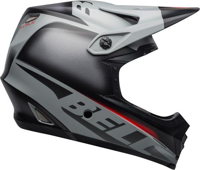 BELL Kask full face Full-9 Fusion Mips matte gloss black gray crimson r. M (55-57 cm) (BEL-71050) 1