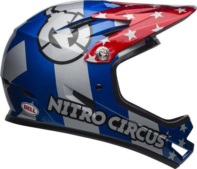 BELL Kask full face Sanction nitro circus gloss silver blue red r. L (58-60 cm) (BEL-7102823) 1