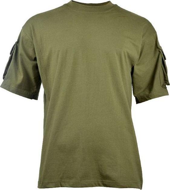 MFH MFH Koszulka T-shirt z Kieszeniami na Rękawach Olive L 1