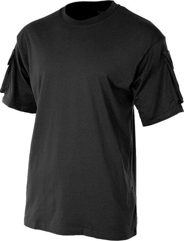 MFH MFH Koszulka T-shirt z Kieszeniami na Rękawach Czarna S 1