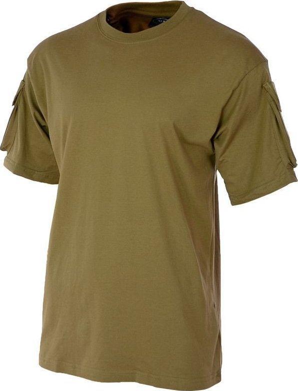 MFH MFH Koszulka T-shirt z Kieszeniami na Rękawach Coyote L 1