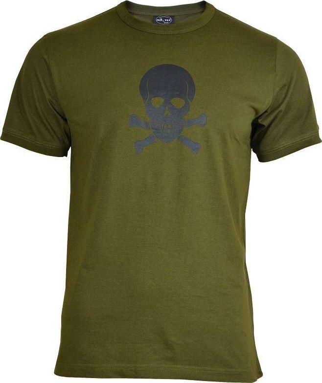 Mil-Tec Mil-Tec Koszulka T-shirt Olive z Czaszką M 1
