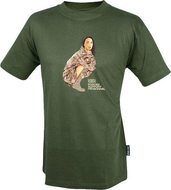 Web-Tex Web-Tex Koszulka T-Shirt Two Squadron Girl Olive L 1