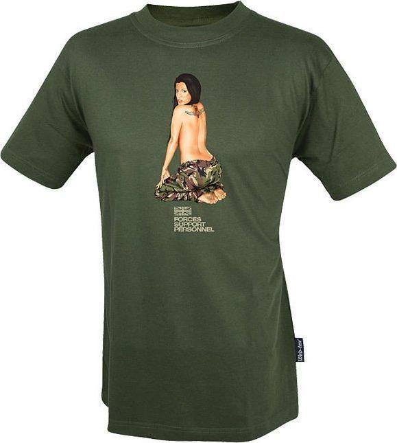 Web-Tex Web-Tex Koszulka T-Shirt Para Girl Olive S 1