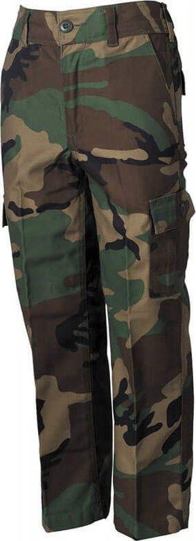MFH MFH Spodnie Dziecięce BDU US Woodland XS 1