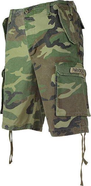 Mil-Tec Mil-Tec Szorty Bermudy Paratrooper Woodland XXL 1
