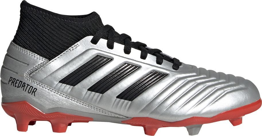 Adidas Buty piłkarskie adidas Predator 19.3 FG JR srebrne G25795 37 1/3 1