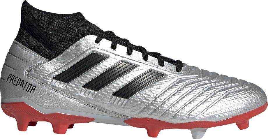 Adidas Buty piłkarskie adidas Predator 19.3 FG srebrne F35595 42 1