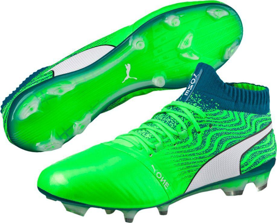 Puma Buty piłkarskie Puma One 18.1 FG Green Gecko 104527 06 42 1