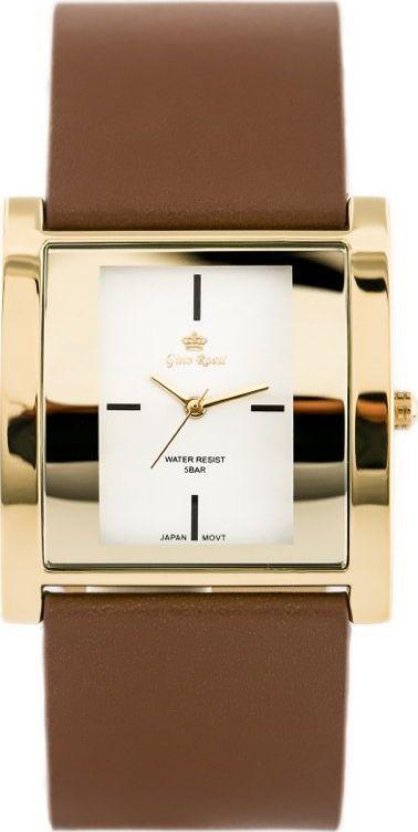 Zegarek Gino Rossi GINO ROSSI - DAFNE (zg576e) brown/gold uniwersalny 1