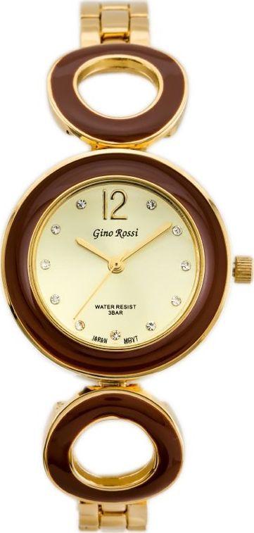 Zegarek Gino Rossi Gino Rossi 8223B - SFERICO (zg518c) gold/brown uniwersalny 1