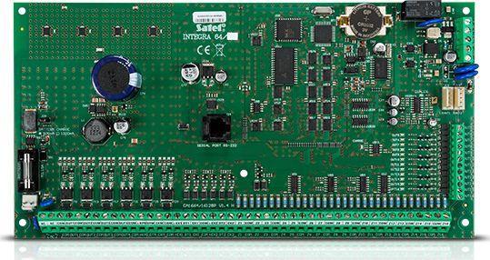 Satel INTEGRA64-Płyta główna centrali (16-64 wejść, 32 strefy, 8 partycji, 192 użytkowników) 1