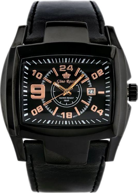 Zegarek Gino Rossi GINO ROSSI - ROCKY (zg057j) black/rosegold uniwersalny 1