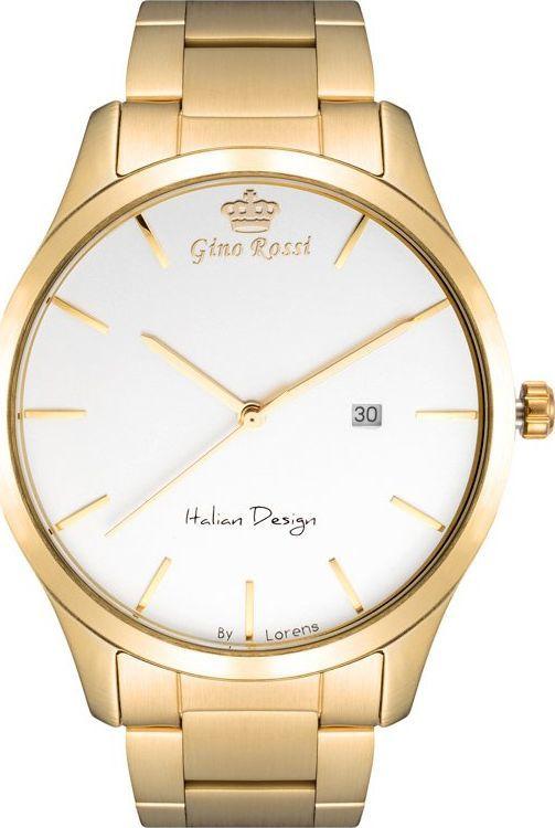 Zegarek Gino Rossi Zegarek GINO ROSSI 11976B-3D1 (zg261d) g./silver uniwersalny 1