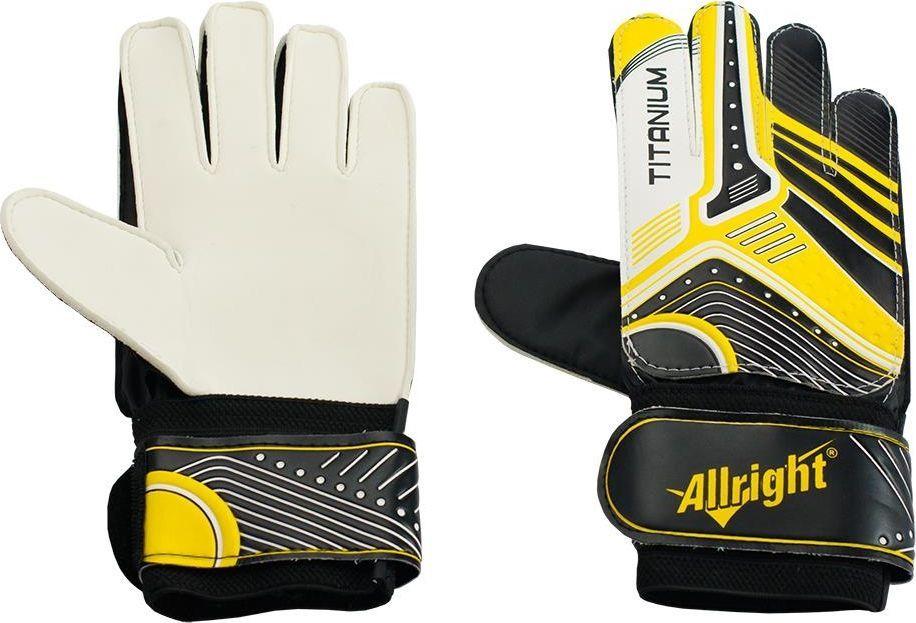 Allright Rękawice bramkarskie Allright Titanium 5 Yellow uniwersalny 1