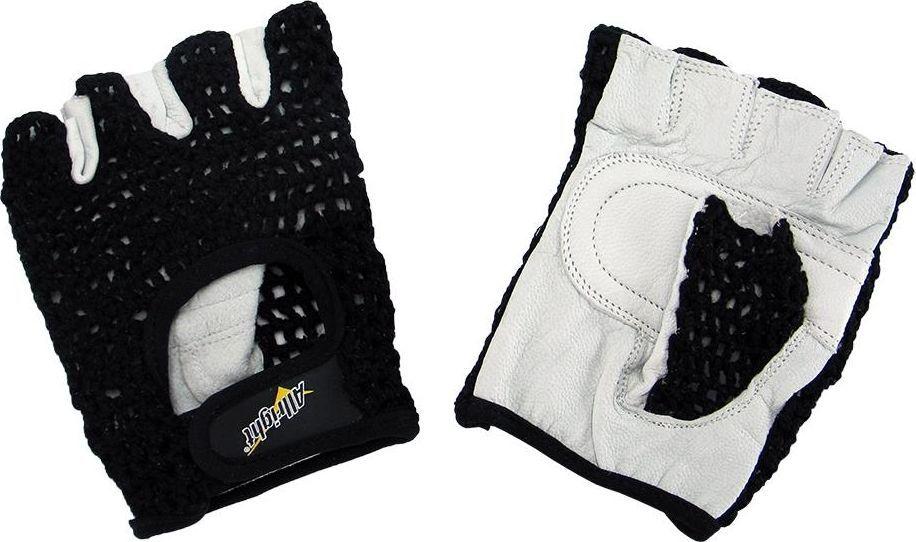 Allright Rękawiczki sportowe rowerowe siatka Allright Czarne rozmiar XS uniwersalny 1