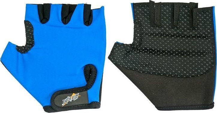 Allright Rękawiczki rowerowe sportowe Lycra S niebieskie uniwersalny 1