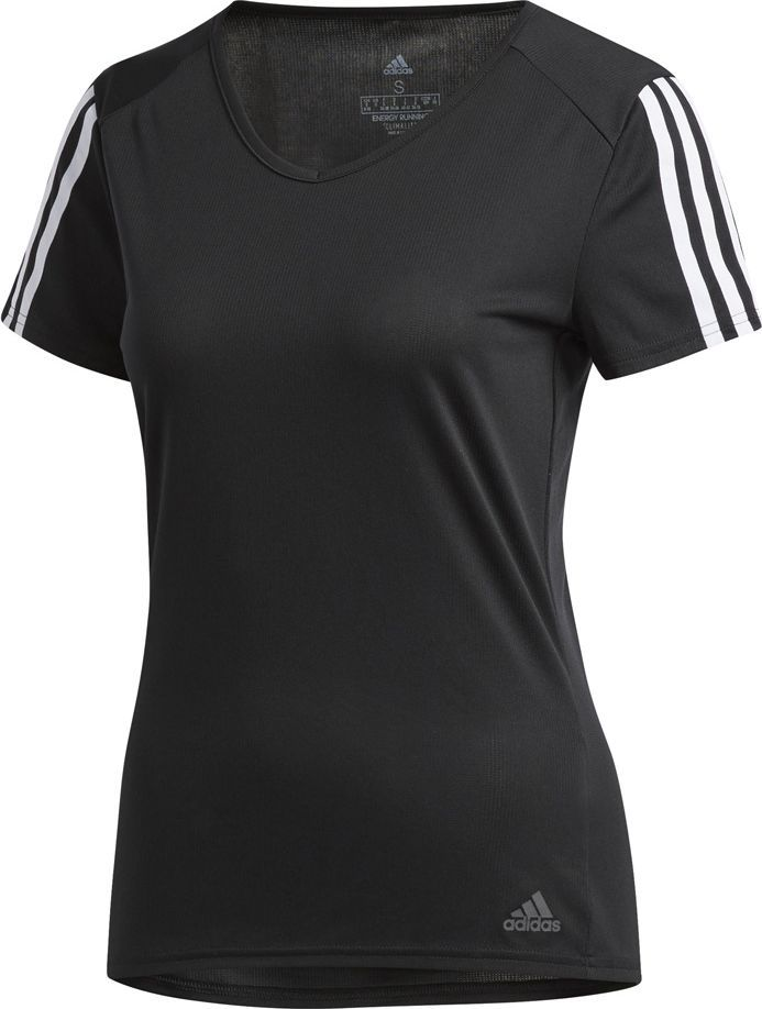 Adidas Koszulka damska Run 3 Stripes Tee czarna r. XS (CZ7569) 1