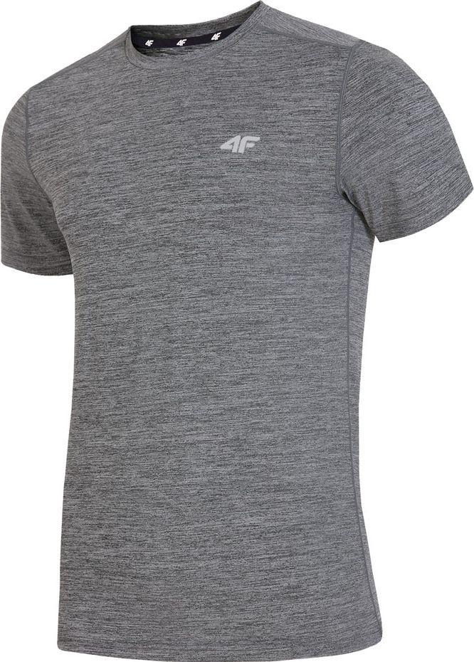 4f Koszulka męska H4L19 TSMF002 24M średni szary melanż r. S 1