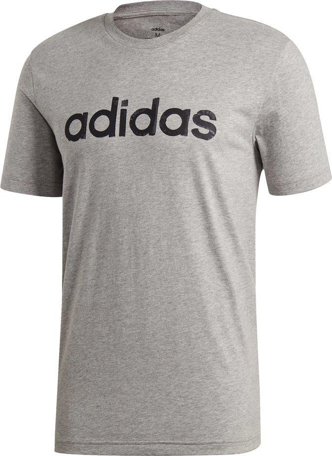 Adidas Koszulka męska M Graphic Linear Tee 3 szara r. S (EI4580) 1