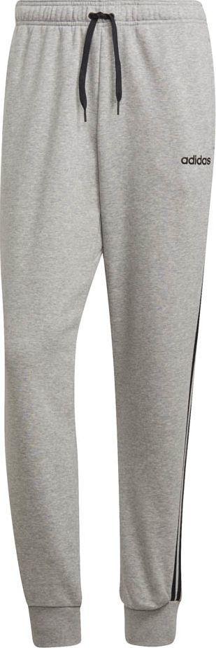 Adidas Spodnie męskie Essentials 3 Stripes Tapered Pant Ft Cuffed szare r. L (DQ3077) 1