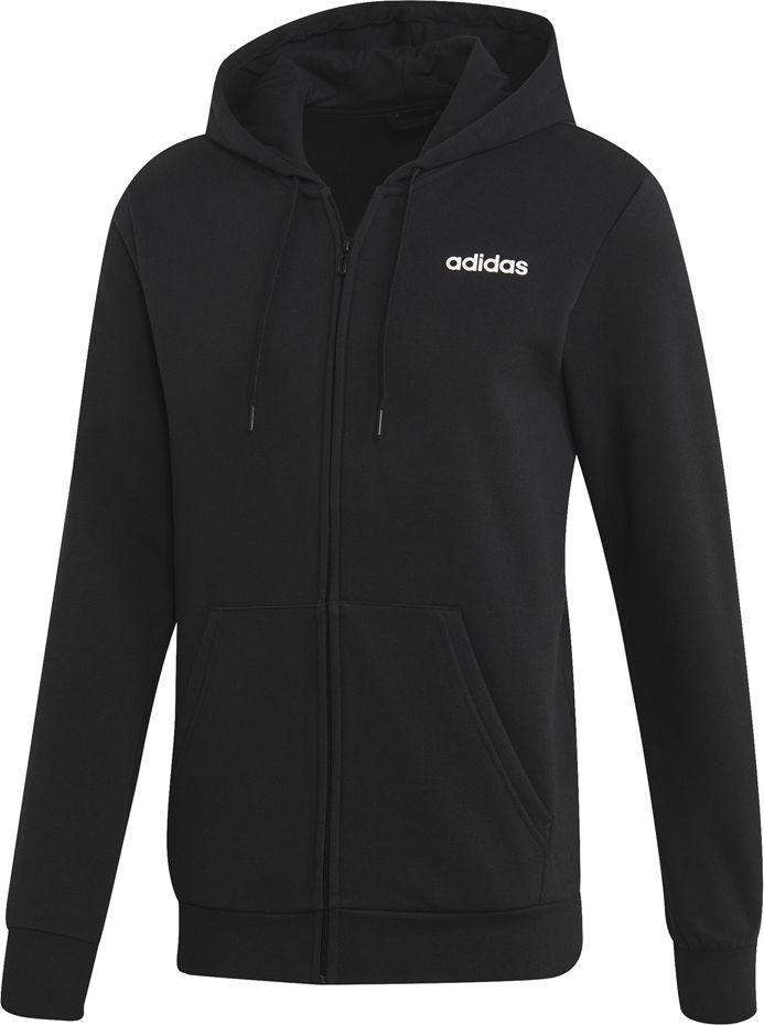 Adidas Bluza męska Essentials Linear Fz Fl czarna r. S (EI9821) 1
