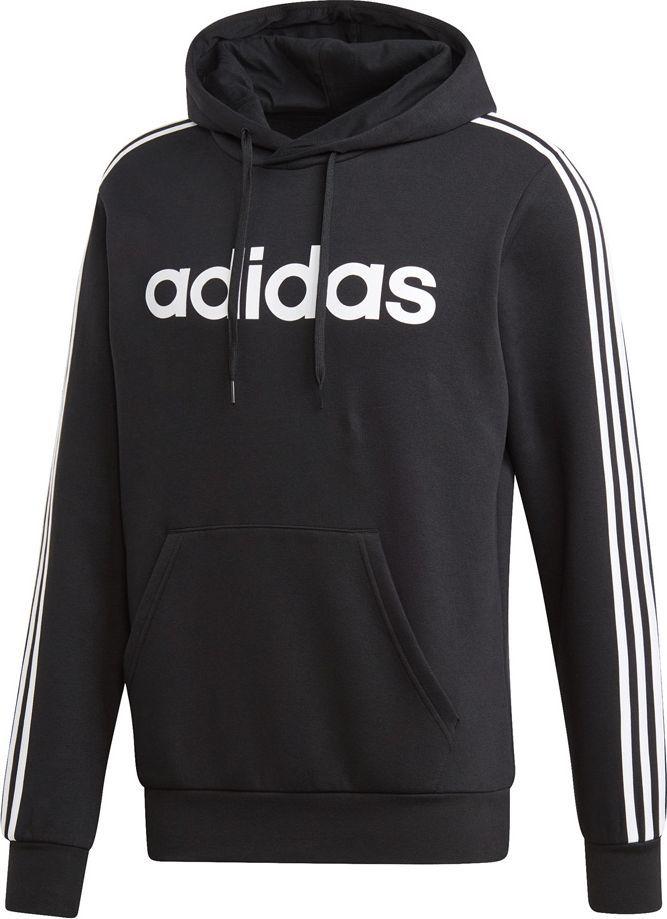 Adidas Bluza męska Essentials 3S Po Fl czarna r. L (DQ3096) ID produktu: 6131210