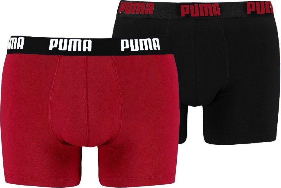 Puma Bokserki męskie Basic Boxer 2P czerwone/czarne r. XL ( 521015001 786) 1