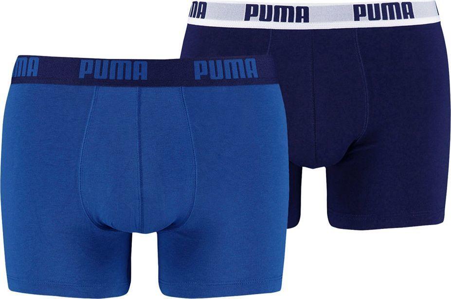 Puma Bokserki męskie Basic Boxer 2P niebieskie r. XL ( 521015001 420) 1