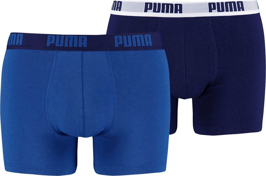 Puma Bokserki męskie Basic Boxer 2P niebieskie r. M ( 521015001 420) 1