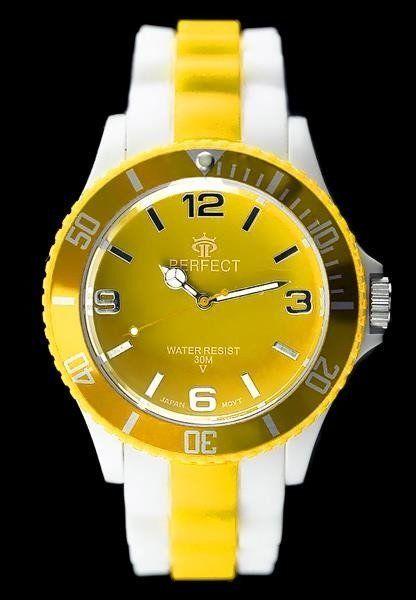 Zegarek Perfect PERFECT - ICE 4 - TRUE COLOR - yellow (zp666d) uniwersalny 1