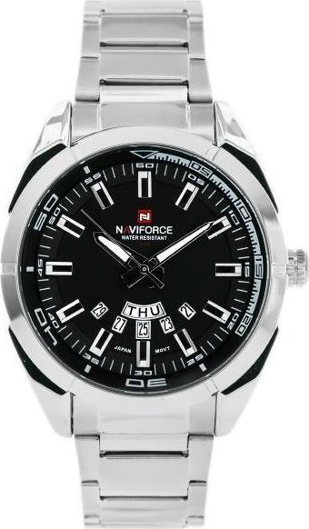Zegarek Naviforce NAVIFORCE BRISTOL (zn009a) - silver/black uniwersalny 1