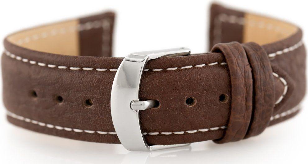 Pacific Pasek skórzany do zegarka W71 - ciemny brąz - 20mm uniwersalny 1