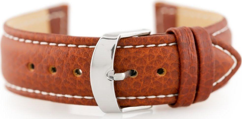 Pacific Pasek skórzany do zegarka W71 - brązowy - 20mm uniwersalny 1