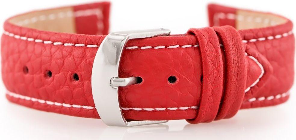 Pacific Pasek skórzany do zegarka W71 - czerwony - 20mm uniwersalny 1