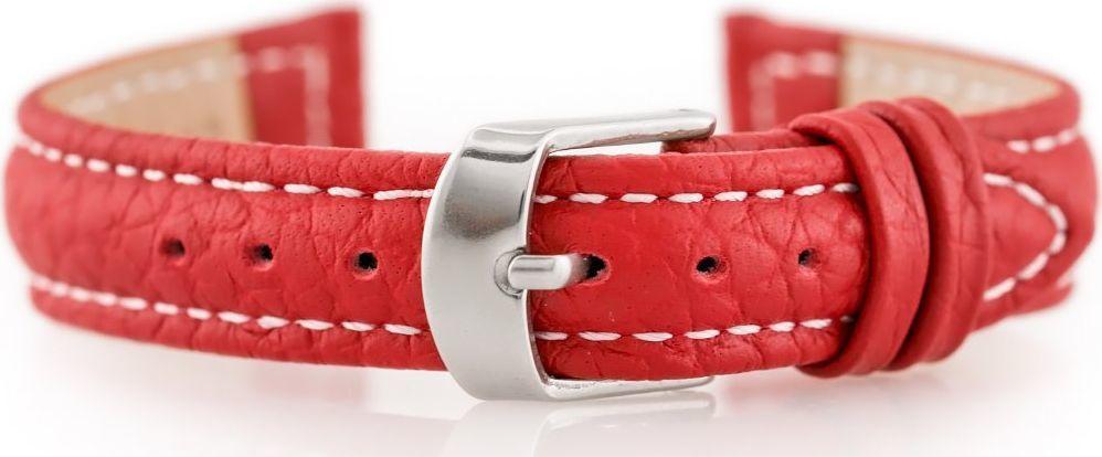 Pacific Pasek skórzany do zegarka W71 - czerwony - 14mm uniwersalny 1