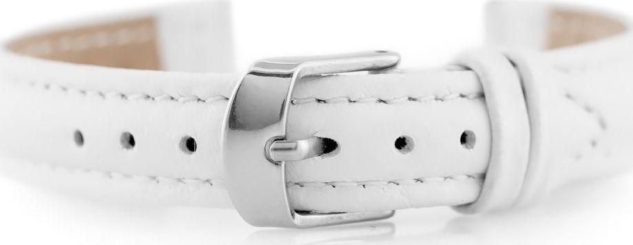 Pacific Pasek skórzany do zegarka W71 - biały - 12mm uniwersalny 1