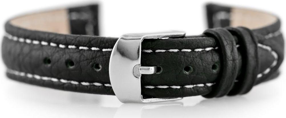 Pacific Pasek skórzany do zegarka W71 - czarny/biały - 14mm uniwersalny 1