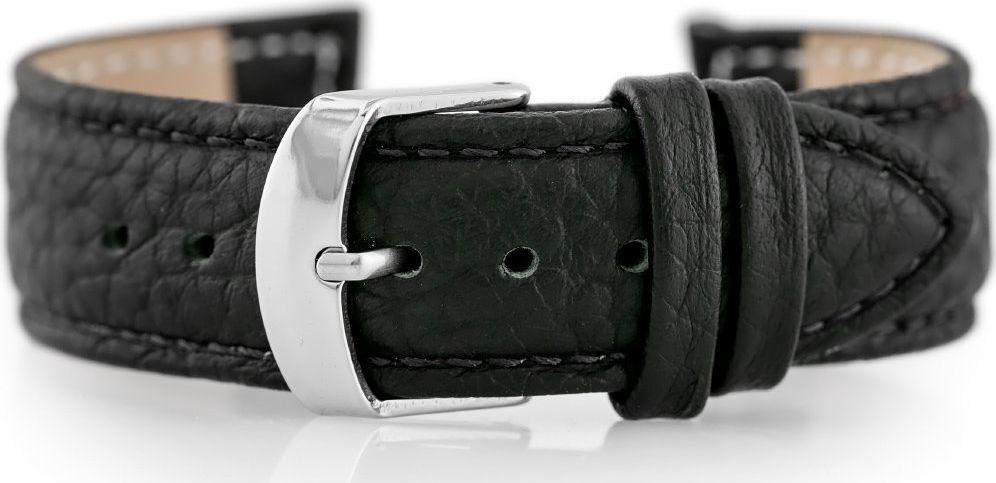 Pacific Pasek skórzany do zegarka W71 - czarny - 18mm uniwersalny 1