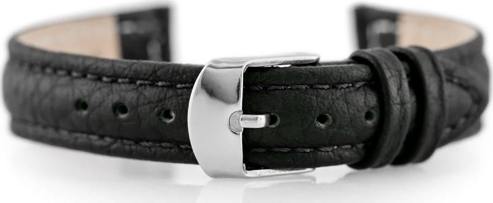 Pacific Pasek skórzany do zegarka W71 - czarny - 12mm uniwersalny 1