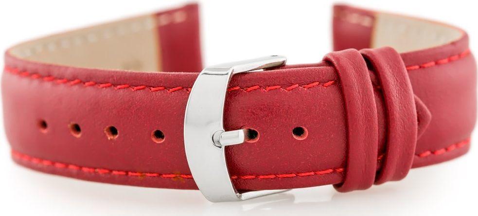 Pacific Pasek skórzany do zegarka W83 - czerwony - 20mm uniwersalny 1