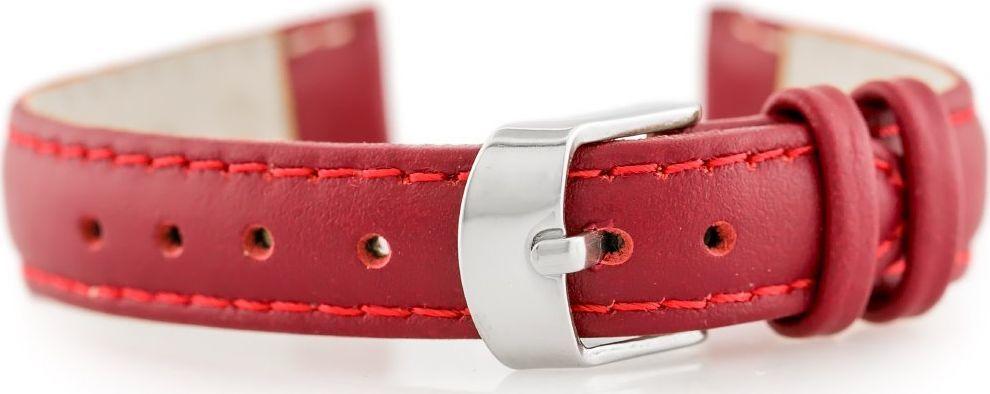 Pacific Pasek skórzany do zegarka W83 - czerwony - 14mm uniwersalny 1