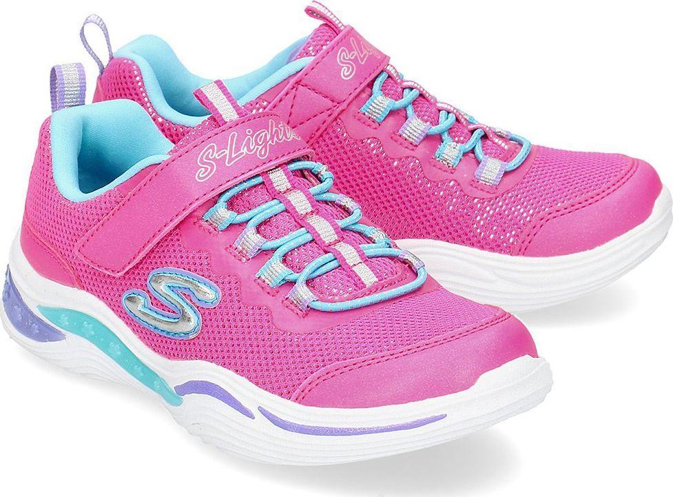Skechers Buty dziecięce S Lights Power Petals różowe r. 28 (20202LNPMT) ID produktu: 6134933